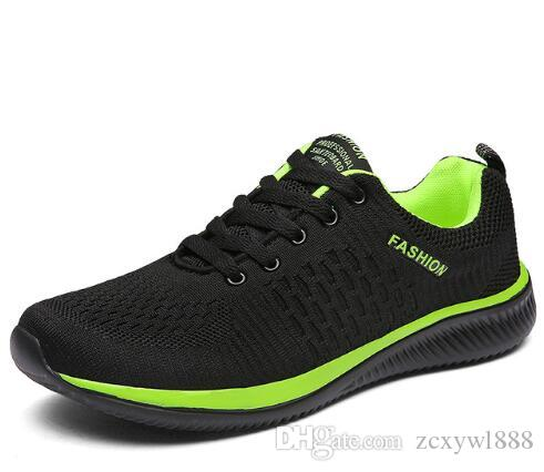 2019 Nouvelles chaussures décontractées pour hommes aux yeux nets attachées aux chaussures pour hommes Marche légère et confortable pour la respiration