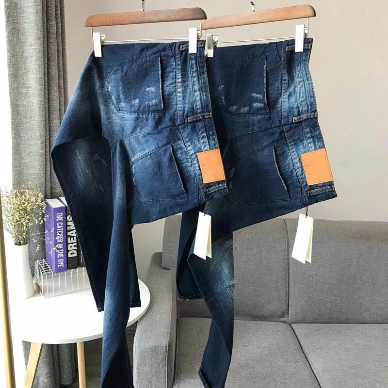Designer Men's Autumn Jeans Distrressed Hole Spring Winter Denim Pants Brand Pants Classic Washed Slim Jeans Men's High Quality Pants 7 Size