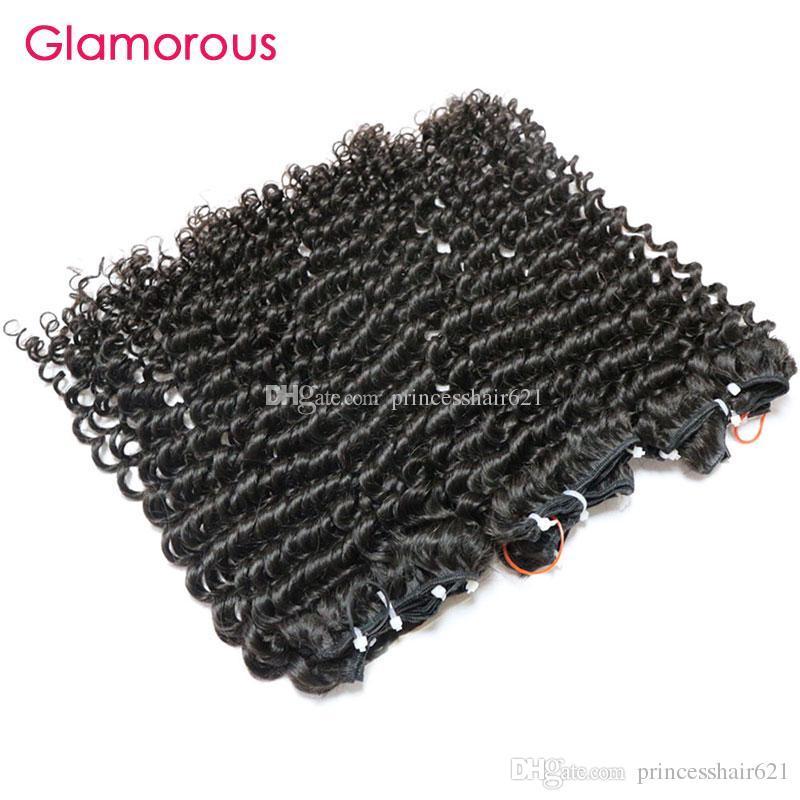 Glamouröse indische Haarbündel Bündel Großhandel unverarbeitetes menschliches Haar 3 stücke engen lockigen mongolischen kambodschanischen brasilianischen malaysischen peruanischen Haarfetten