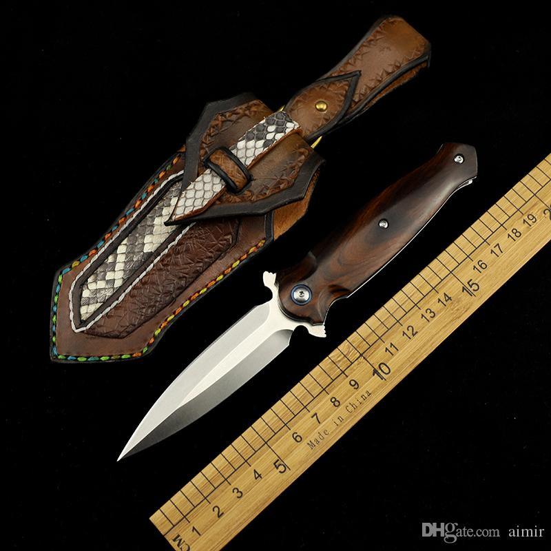 Mo Xie M390 içeren çelik kumunu demir ahşap katlama bıçağı alan sağkalım aracı katlama bıçağı açık hayatta kalma bıçak keskin EDC aracı
