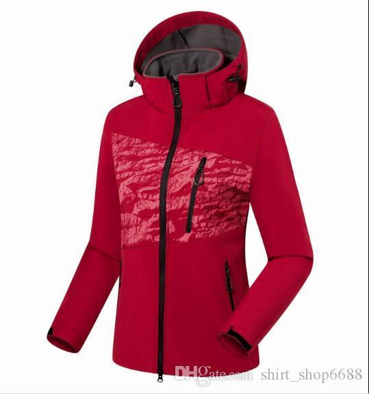 2019 nuevo The Womens Outdoors Chaquetas Sudaderas con capucha Impermeable Outwear Outwear Ski Traje Fleece Soft Shell Jacket S-3XL