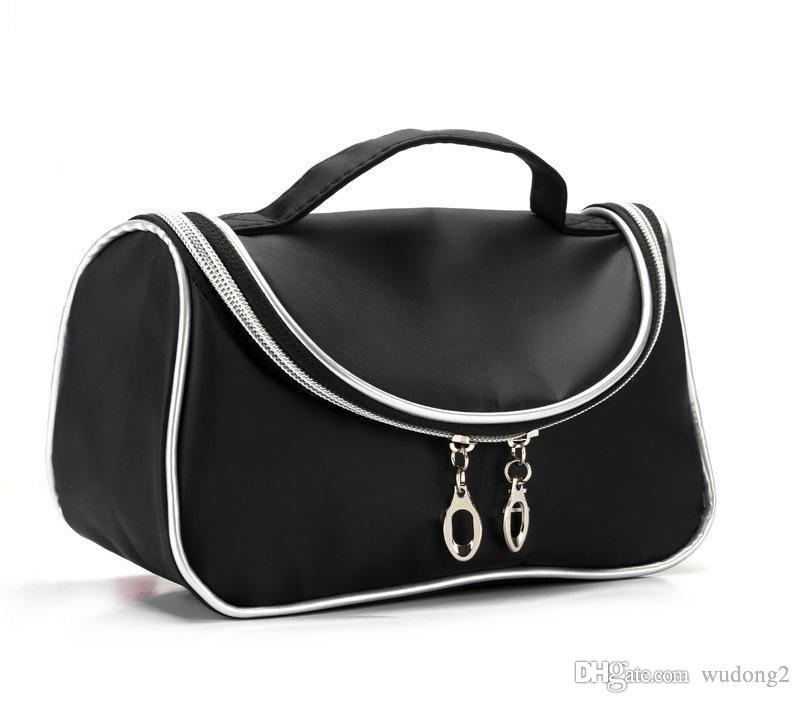 Nuovo stile borsa trucco impermeabile di viaggio Beauty Cosmetic Bag Organizer caso i necessari Make Up toilette Borsa con specchio