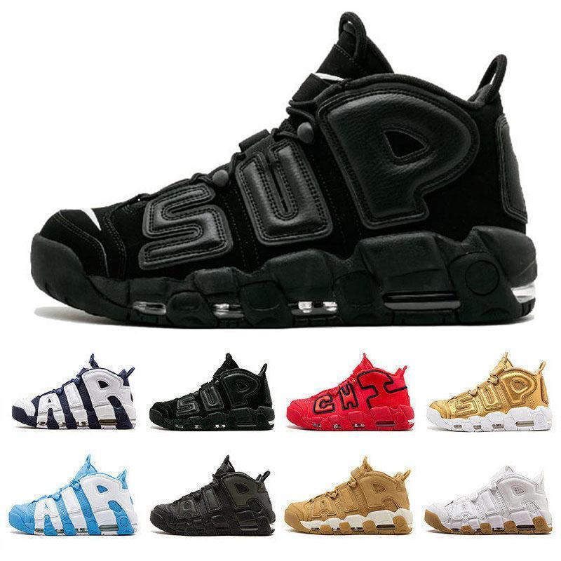 Programı 96 Erkek Basketbol Ayakkabıları Moda Büyük Boy Erkekler Tasarımcı Sneakers Minderli OG 3 M Scottie Uptempo Lüks Spor Eğitmeni Boyutu 41-46