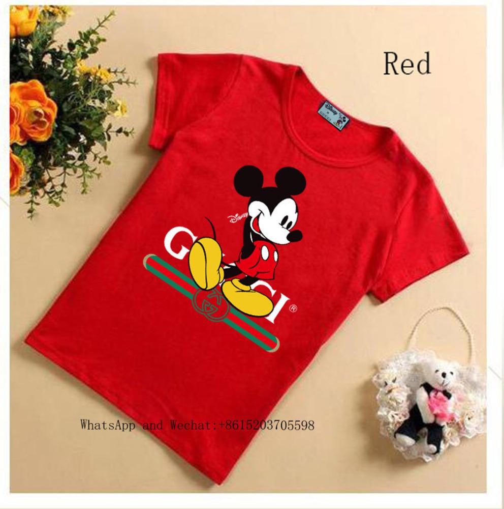 New Pattern Children's Summer Short Sleeve cute T-shirt Female Boys Pure Color Bottoming Blouses t shirts 031602