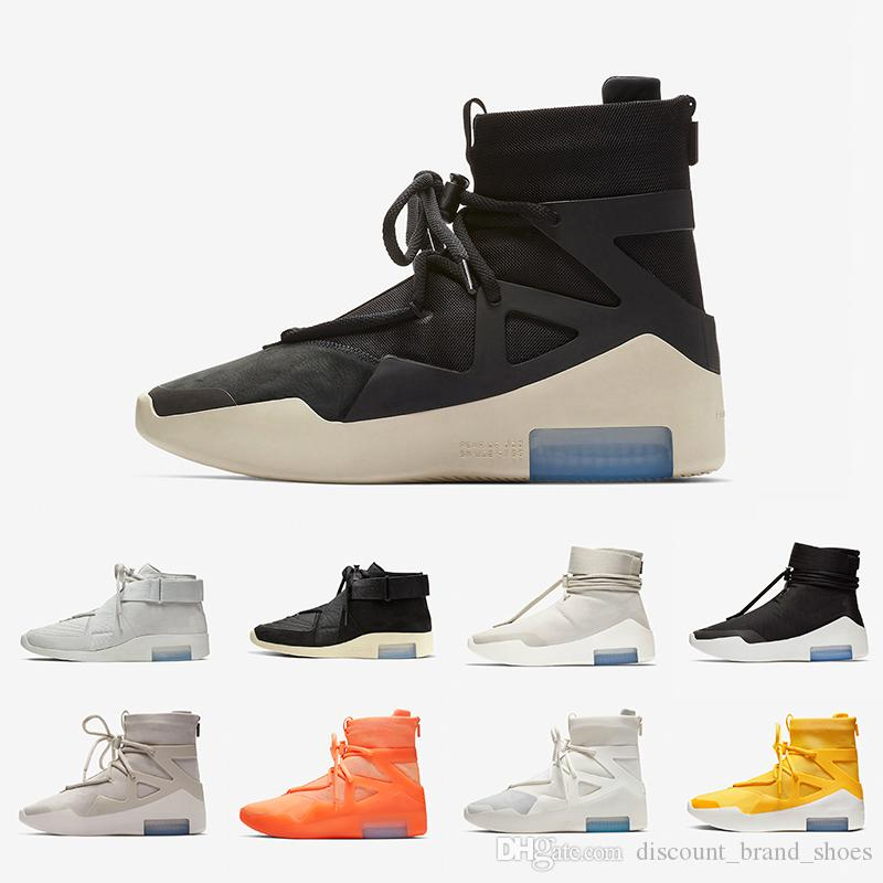 Nike Air Fear of God 1 Epinette givrée FOG Peur de Dieu X 1 SA 180 Bottes Raid Bone Light Bone Designers Chaussures de Course À Voile Amarillo Air sports Sneakers 36-46