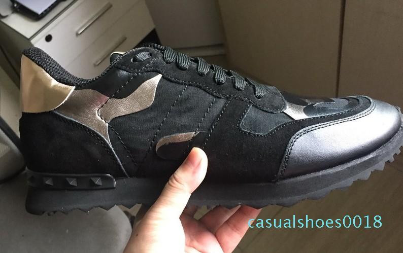 2020 nuovo progettista rock Stud Sneaker donne e gli uomini Casual Shoes rock Runner Trainer partito scarpe da sposa c18