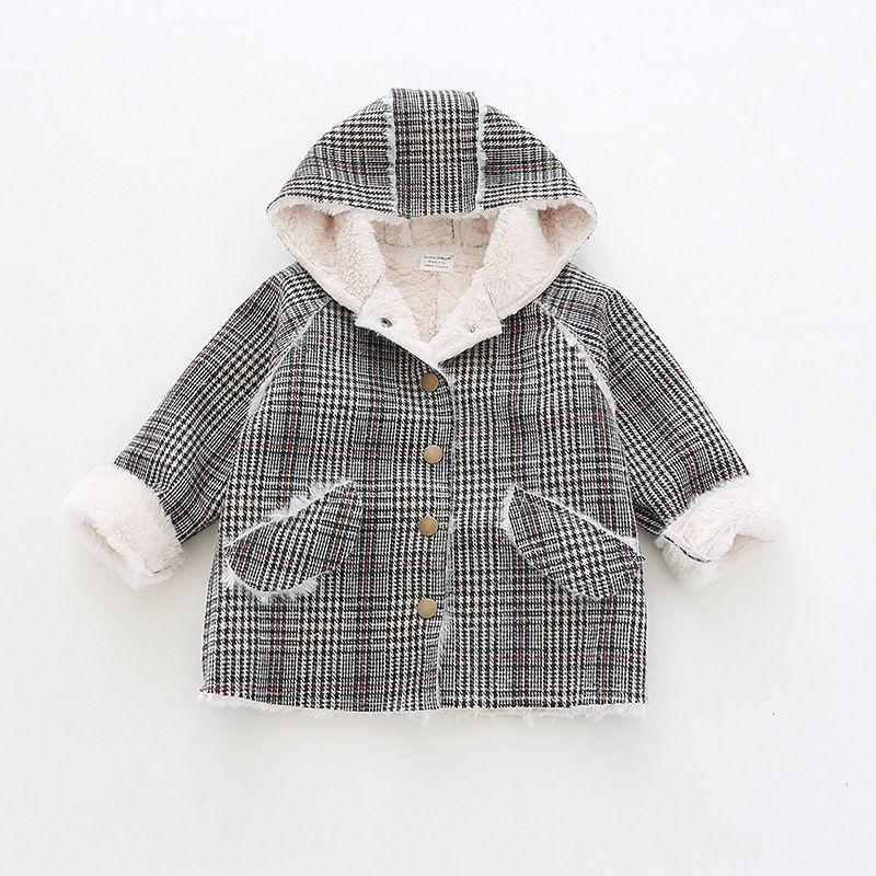 Fashion Children Winter Jacket Girl Winter Coat Unisex Boys Warm outerwear wool Plaid down Coats For Teenage 1-4Years CJ191219