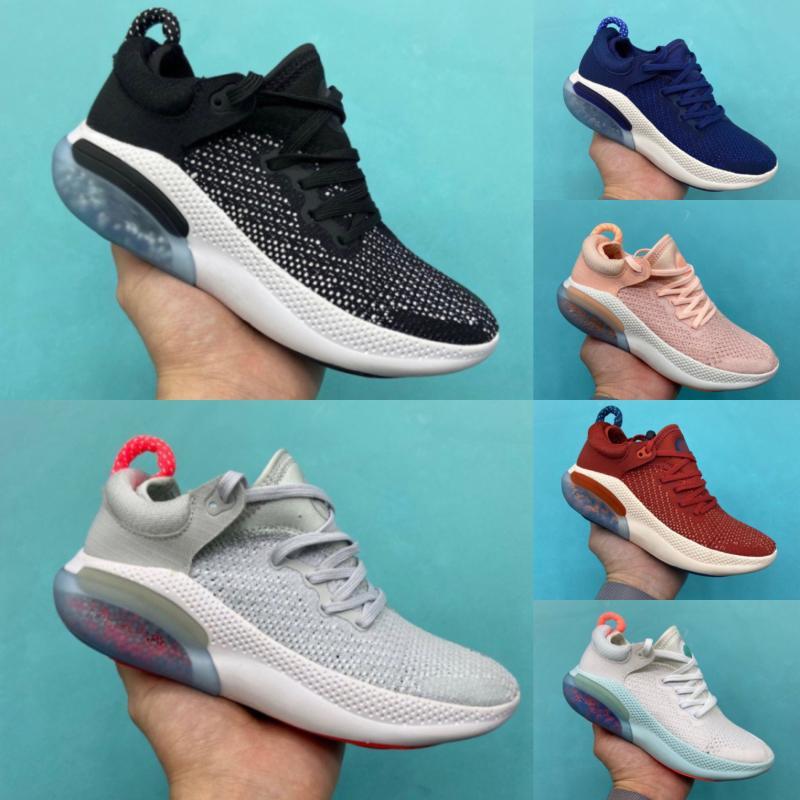 Nike JOYRIDE RUN FK 2020 Platinum Tinta Nero Bianco Scarpe Racer Blu Università Red bambini ammortizzazione sportive sneakers 28-35 Esecuzione