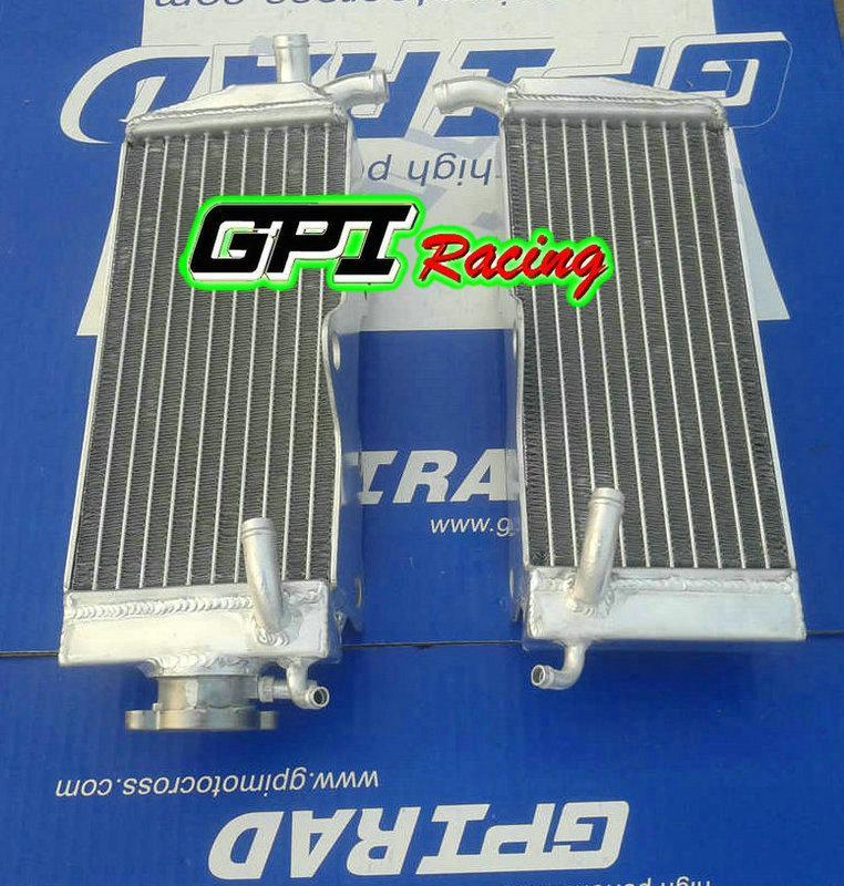 CR250R CR 250R CR250 için alüminyum radyatör CE 250 R 88-89 1988 1989 RHLH GPI Yarış