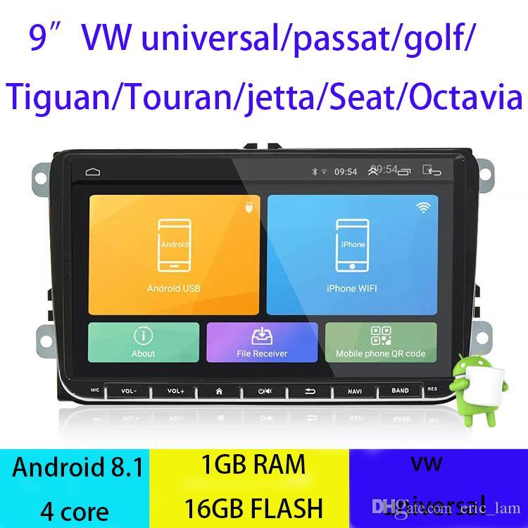 Android 8.1 Car DVD Quad Core 16G ROM 1024*600 Screen Car Raio for VW Golf mk6 5 Polo Jetta Tiguan Passat B6 B5 CC Skoda