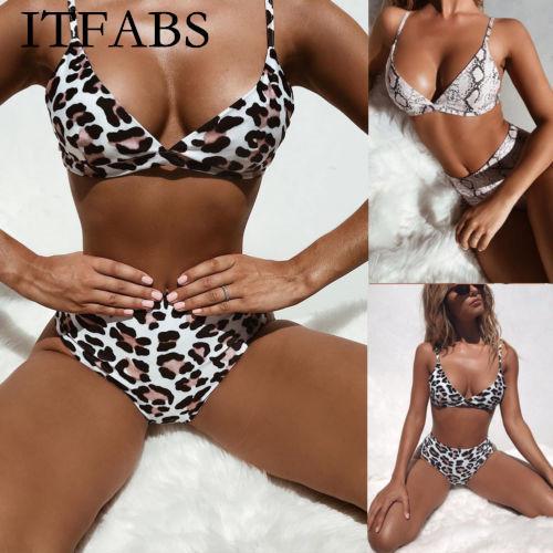 ITFABS мода женщины дамы мягкий пуш ап леопардовый купальник Купальник купальники бикини