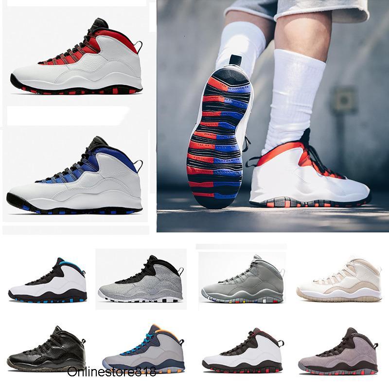 Yüksek Kaliteli Erkek 10 10s Basketbol Ayakkabı Beyaz Siyah Bobcats Chicago Powder Blue Doğa Sporları Sneakers geri döndüm Çimento Westbrook
