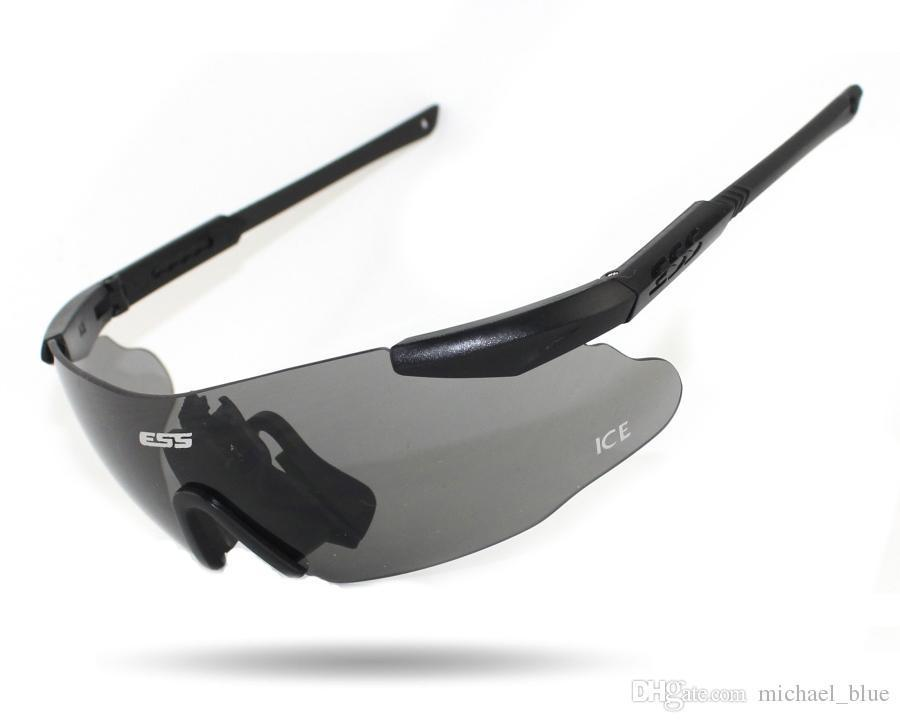 ESS ICE Sunglasses Safety Glasses Shooting Tactical Army Sport Militar 3Len Set