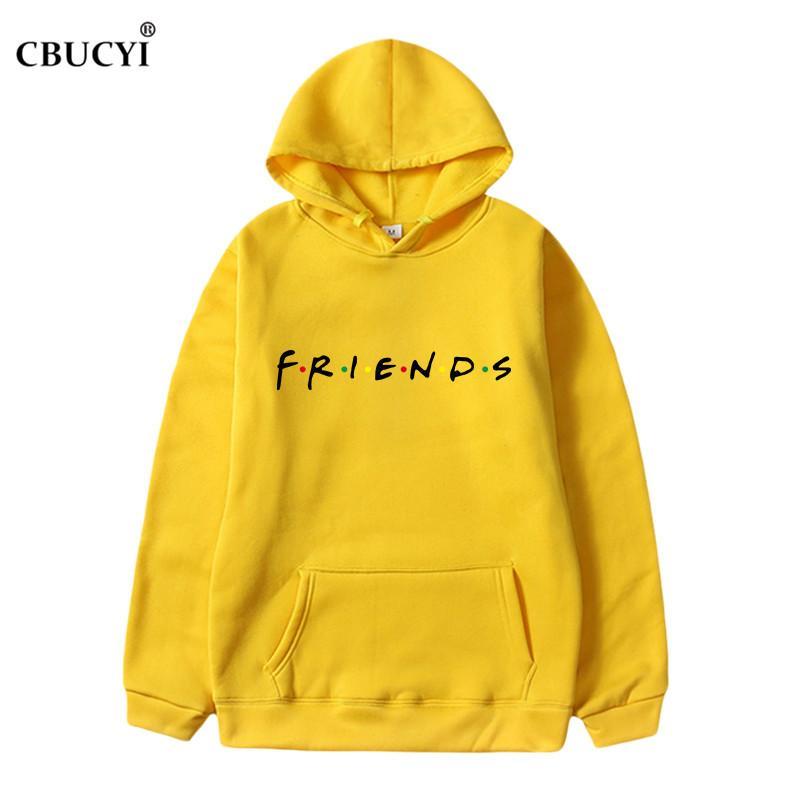 Novos amigos Mostrar letra do alfabeto Hoodies Sweatshirts Hip Hop Streetwear baratos Hoodies dos homens / mulheres Casal Suéter