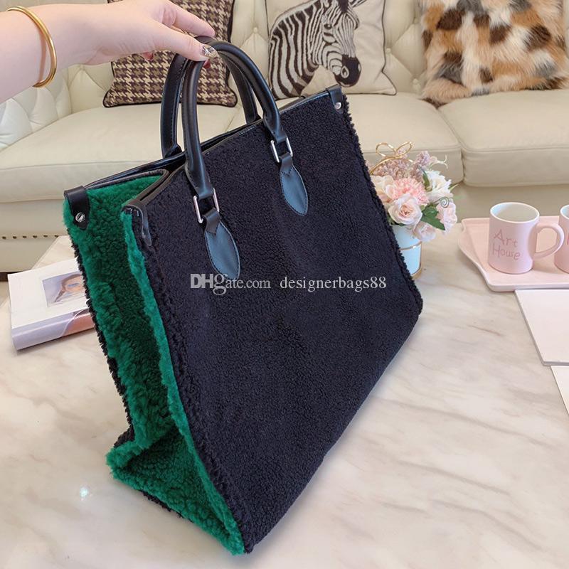 Hiver nouveaux sacs à main designer imprimé fleurs classique tissu de laine sacs à main totes grande capacité sac de voyage sacs sac de sport design