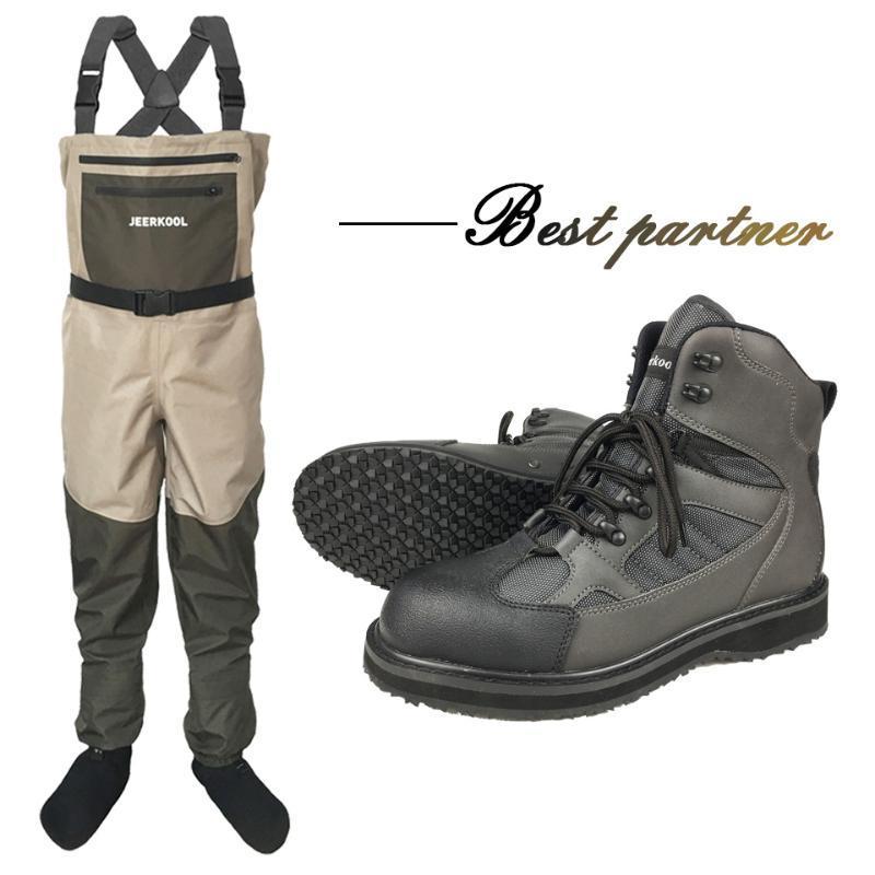 الصيد الخواضون الملابس للماء البدلة السمك صيد السمك الملابس للصيد سروال صخرة لا زلة المطاط أو رأى أحذية وحيد السمك