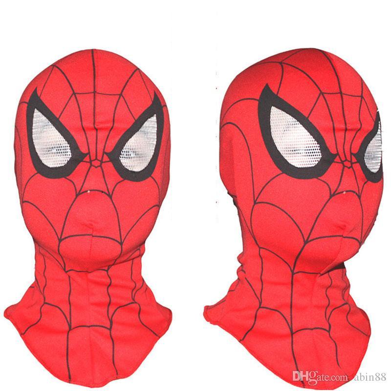 New Halloween Masks Super Cool Spiderman Mask Adult and Kids Full Head Hood Masks Halloween Decrated Suppies