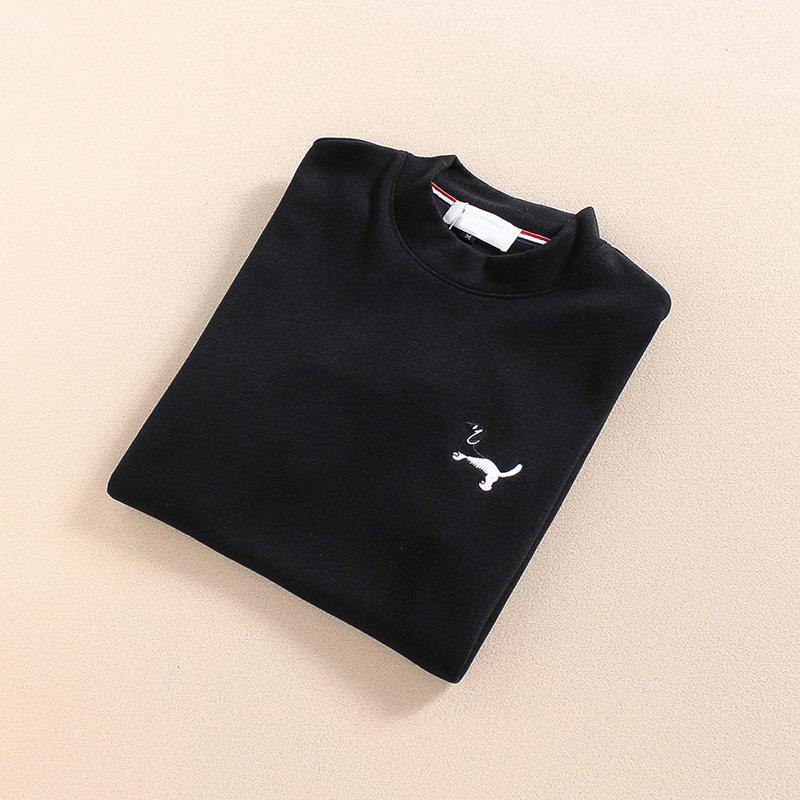 Neck Qing Beliebte Freizeit Slim Fit Typ Stickerei Teenager Pullover Short Sleeve 0302-01