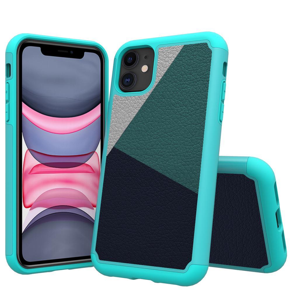 Multi-Layer telefone iPhone para o caso do 11 Pro Max XR Max 8 7 6s mais de absorção de choque Drip couro proteção TPU Case para Iphone 11