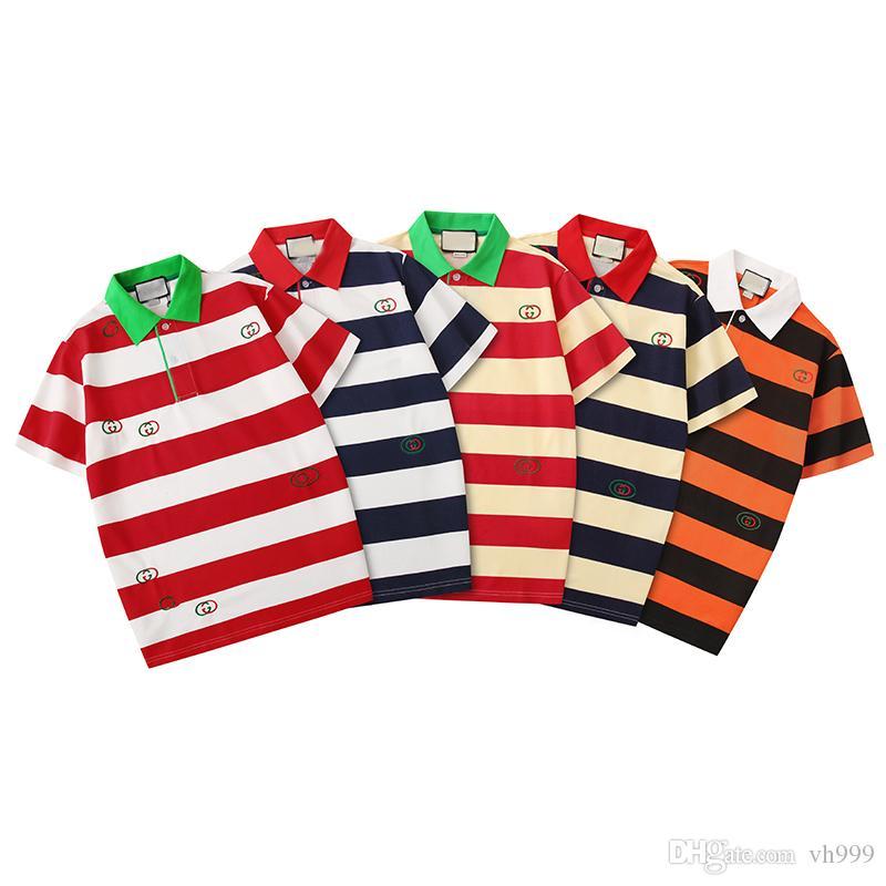 T-Shirt für Herren Polos Cotton T-Shirt mit kurzen Hülsen-beiläufige der Frauen Männer T-Shirts für Männer Kleidung Medusa 2020Sommer