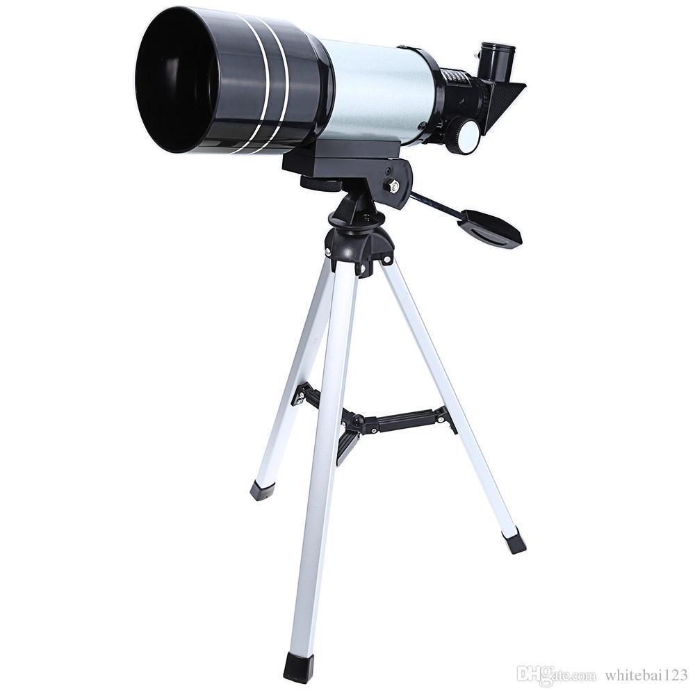 FREE SHIPPING الجملة الفلكية أحادي العين تلسكوب الفضة التلسكوبات الفضائية Professional مع ترايبود عدسة المناظر الطبيعية لعلم الفلك