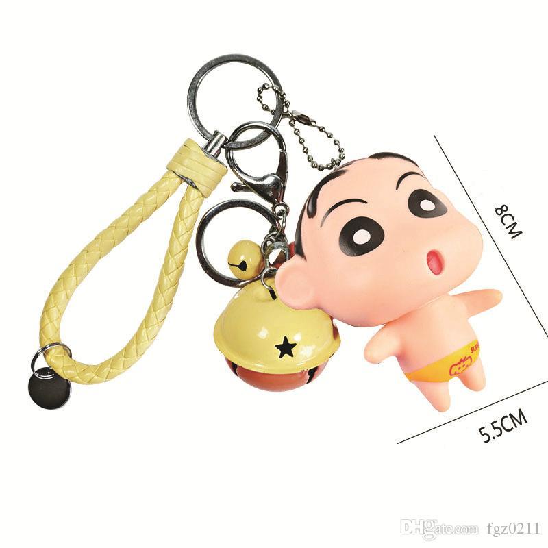 Yeni Tasarım 3D Karikatür Bebek Anahtarlık Anime Crayon Shin-chan Anahtarlık PVC Model Shnnosuke Aksesuar Çanta Pandent Takı Hediye 20180125