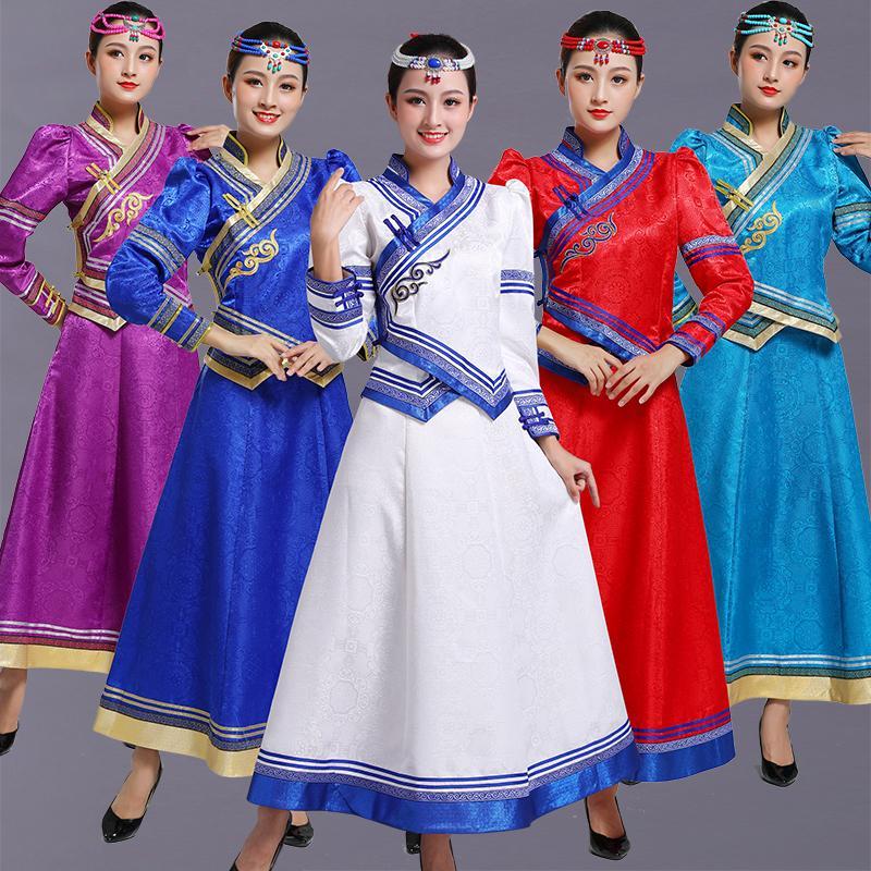 danse mongole Costumes de scène pour femmes Vêtements qpparel élégante orientales adultes fête vêtements ethniques fête costumes haut jupe +
