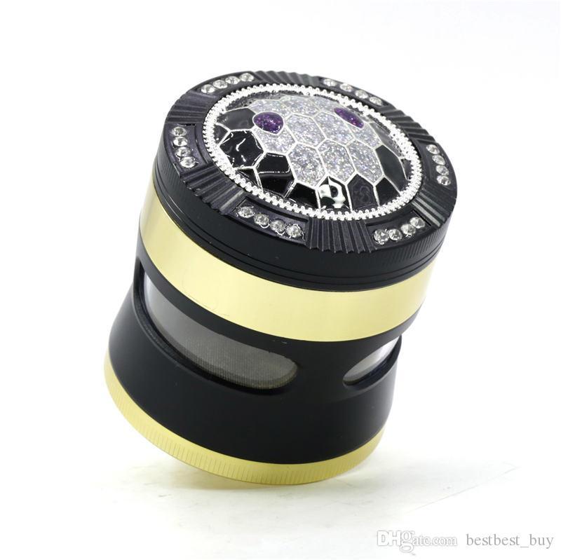 DHL New Tobacco Херб Grinder 4 шт 50мм 55мм 63мм Курение Установить алюминиевый сплав цинка пыльцу пресс улавливающих металлические измельчители