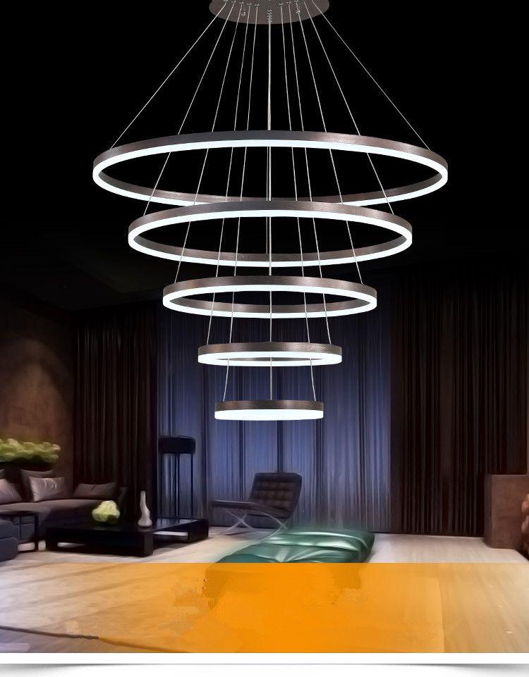 Luzes do pendente do anel do diodo emissor de luz moderno para a sala de visitas da sala de jantar que cozinha lâmpada pendente da lâmpada do teto