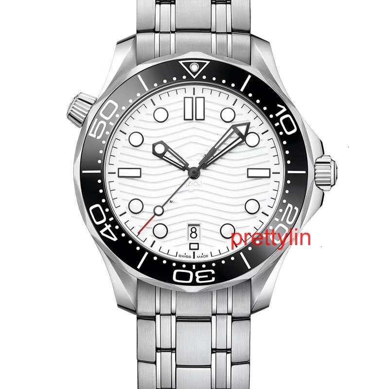 핫 판매 해마 시리즈 럭셔리 남성 시계 자동 남성 디자이너 300M 운동 시계 폴딩 버클 손목 시계
