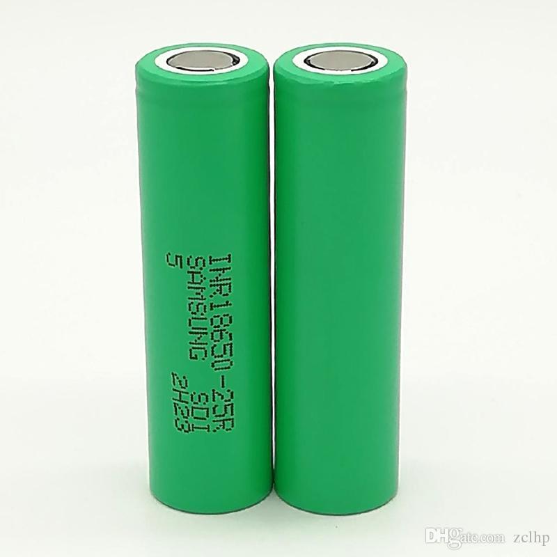 300 pcs 100% de alta qualidade INR 25R 18650 2500 mAh IMR 3.7 V para LG SONY Samsung recarregável baterias de lítio celular