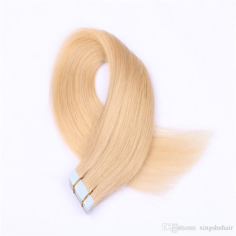 9a del nastro dei capelli di estensione 50g PU Pelle di trama di estensioni dei capelli del nastro di Remy diritta nelle estensioni dei capelli