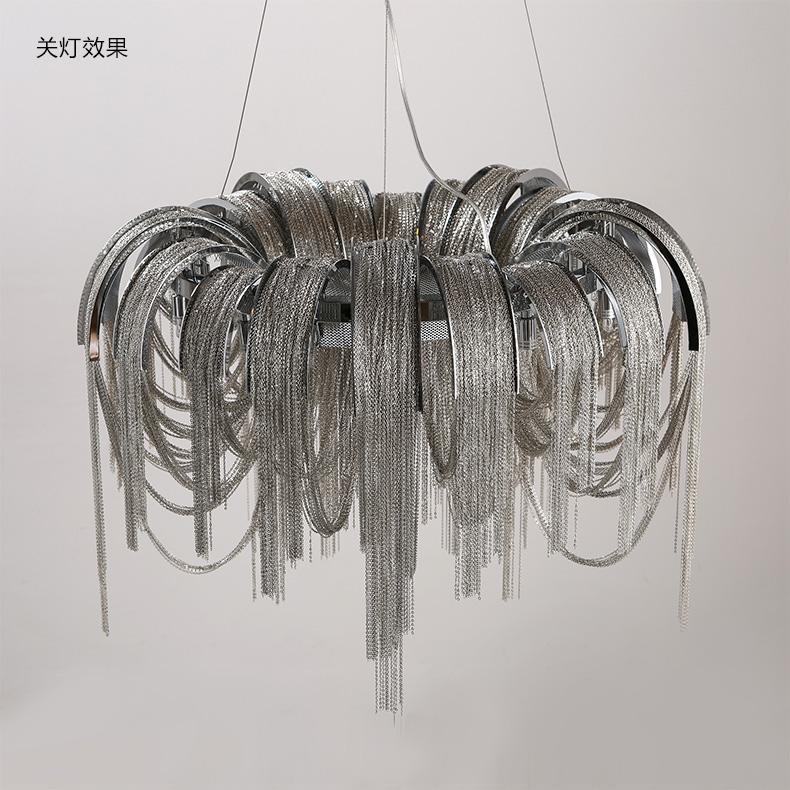 Современная алюминиевая Люстра светильник французских Chian свисающего Luster Lamparas Тессал лампу для дома Hotel Cafe Project