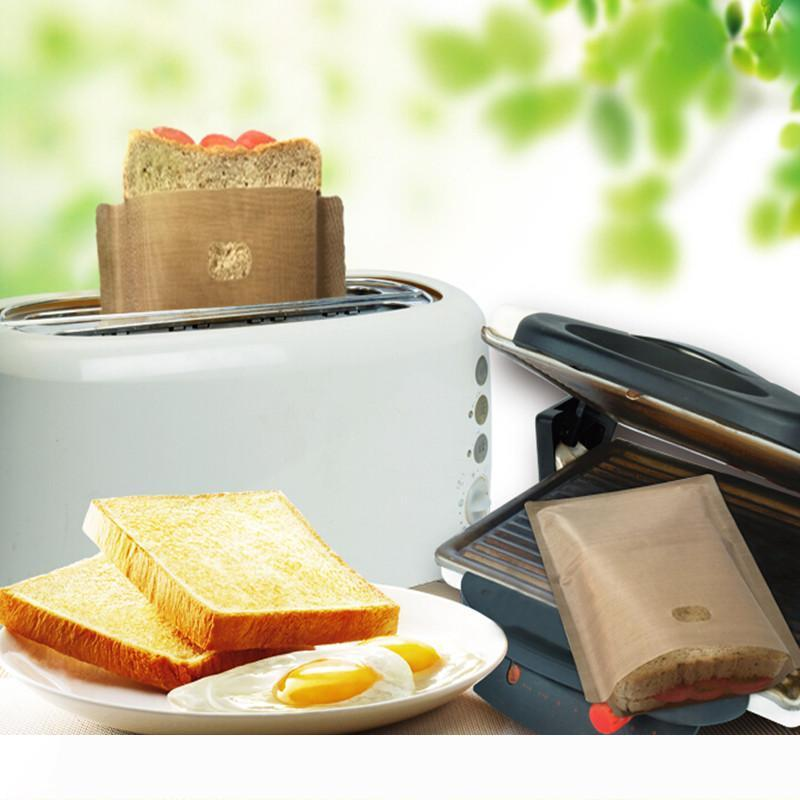 Toaster Bag Non Stick Bread Bag Sandwich Bags Reusable Coated Fiberglass Toast Microwave Heating Pastry Tools
