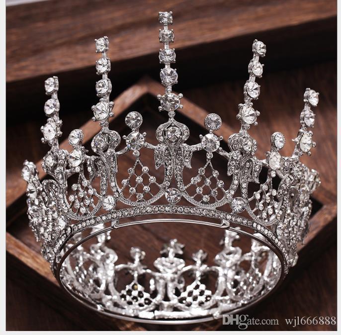 Modelação inteira da mantilha da coroa do diamante da água da coroa do casamento da noiva