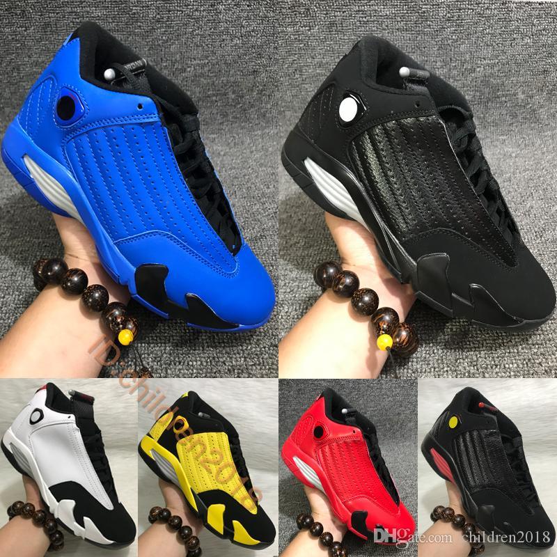 14 14s zapatos de baloncesto para hombres de cuero clásico de la marca Royal Blue Ferrari Redwood bastón de caramelo último golpe Tamaño de salto para hombre XIV formadores 7-13