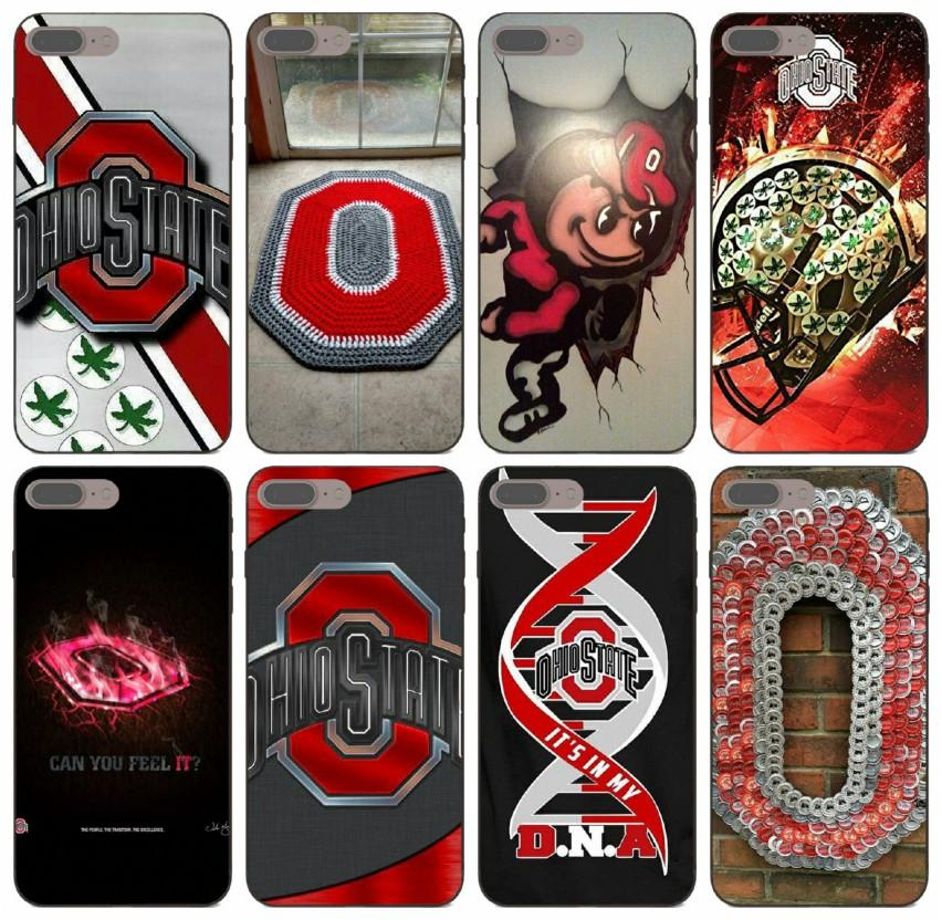 [TongTrade] Ohio State Buckeyes College Football Case For iPhone 11 Pro Max X XS XR 8s 8 7s 7 Plus Samsung J8 Honor 7A Pro Redmi Note 2 Case