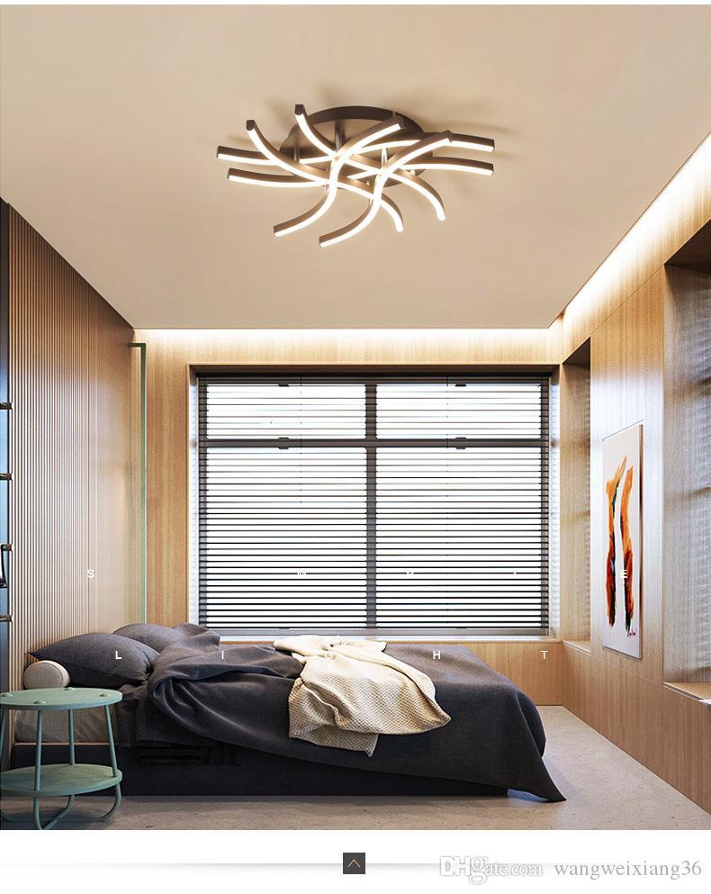 Großhandel Zeitgenössische Schlafzimmer LED Leuchten Nordic Wohnzimmer Schlafzimmer Stu Restaurant Haushalt Führte Kuppel Licht Zu Absorbieren Von
