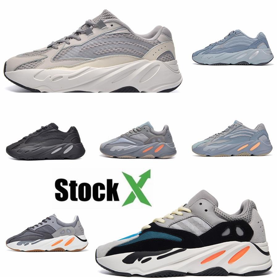 700 Wave-Mauve Kanye West Wave-Static Schuhe Männer Frauen Schwarz Weiß Blau Grau Designer Leichtathletik Männer Größe 36-46 S01 # QA386