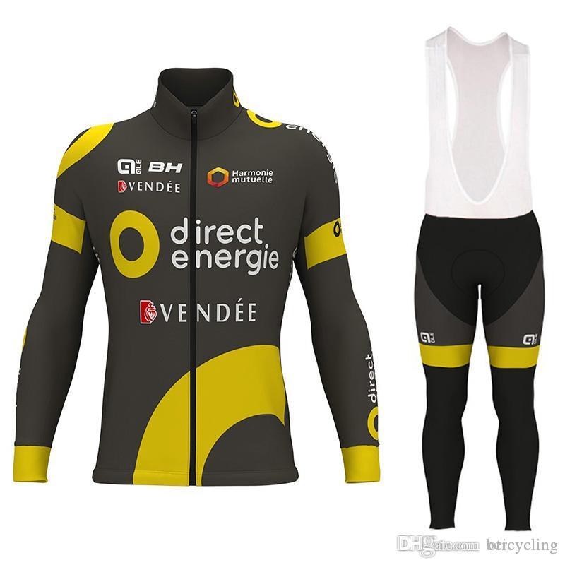 2018 Maillot cyclisme manches longues et pantalons de cyclisme vélo Kits sangle B18040204