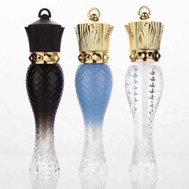 5ML الخالي الصولجانات الشكل البلاستيك ملمع الشفاه أنبوب، الجمال واضح الملكة ملمع الشفاه الحاويات، الجزر الصولجانات أحمر الشفاه زجاجة