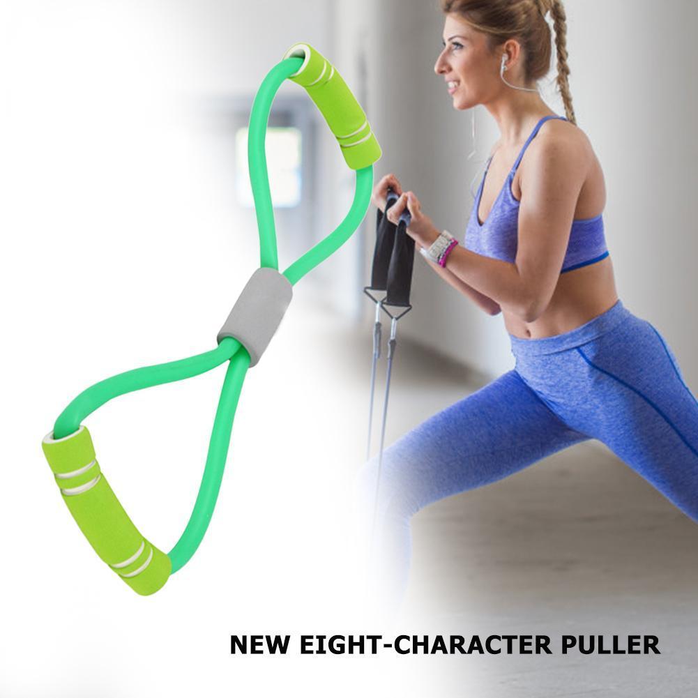 New Resistance Yoga Gum Bands 8 Wort-Kasten-Expander-Seil-Workout Muskel Fitness Gummigummibänder für Sport Übung