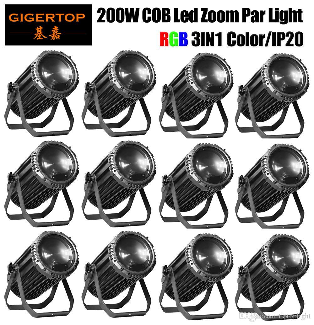 TIPTOP 12 unidades 200W RGB 3IN1 COB LED Zoom PAR LUZ EFEITO DJ DMX