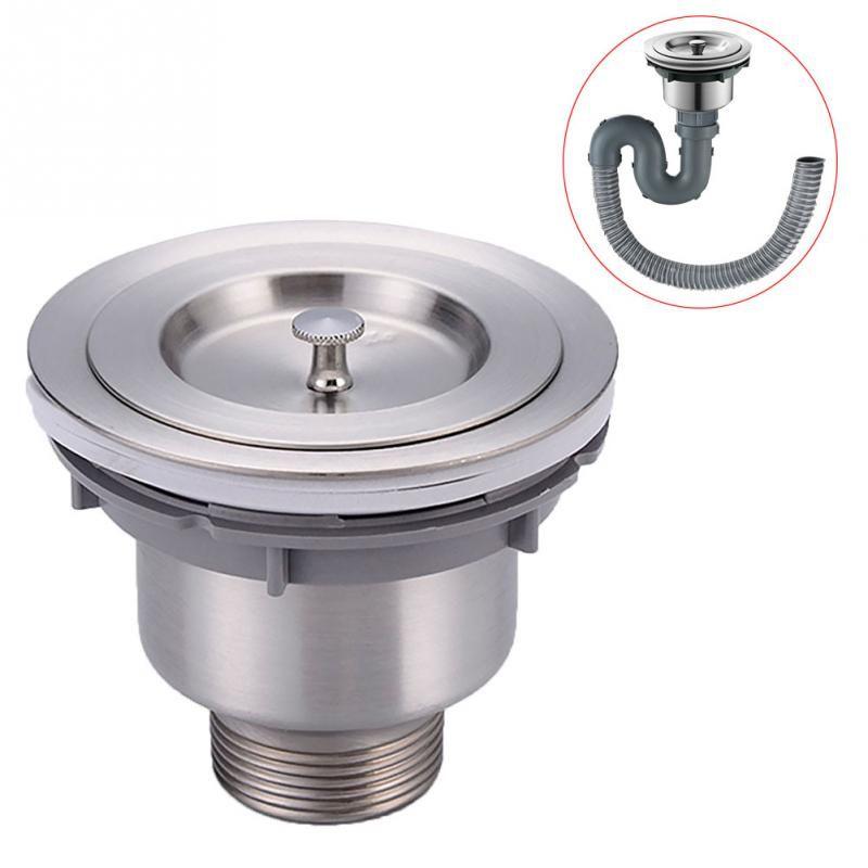 Stainless Steel Kitchen Sink Drain Assembly Waste Strainer and Basket Strainer Stopper Waste Plug Sink Filter