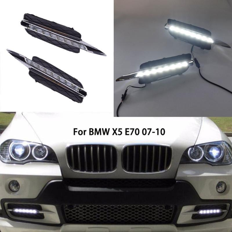 styling 12V LED Luce diurna DRL dell'automobile LED Daytime Running Lights per X5 E70 2007 2008 2009 2010 replace fendinebbia copriforo