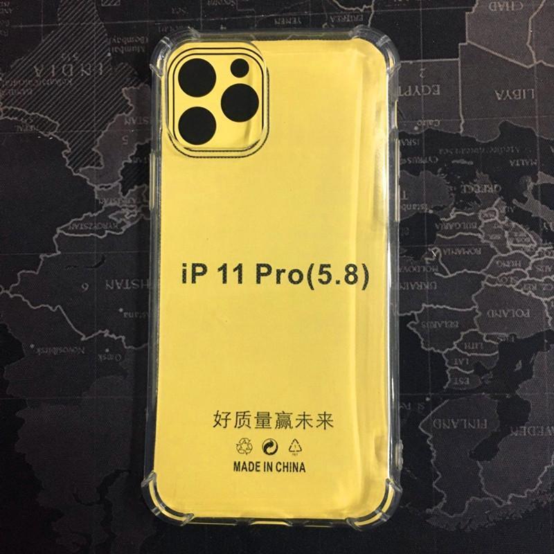 Şeffaf Telefon Kılıfı iPhone 11 Pro MAX XS XR X 8 Artı Quadrangle Hava Yastığı Koruması iPhone