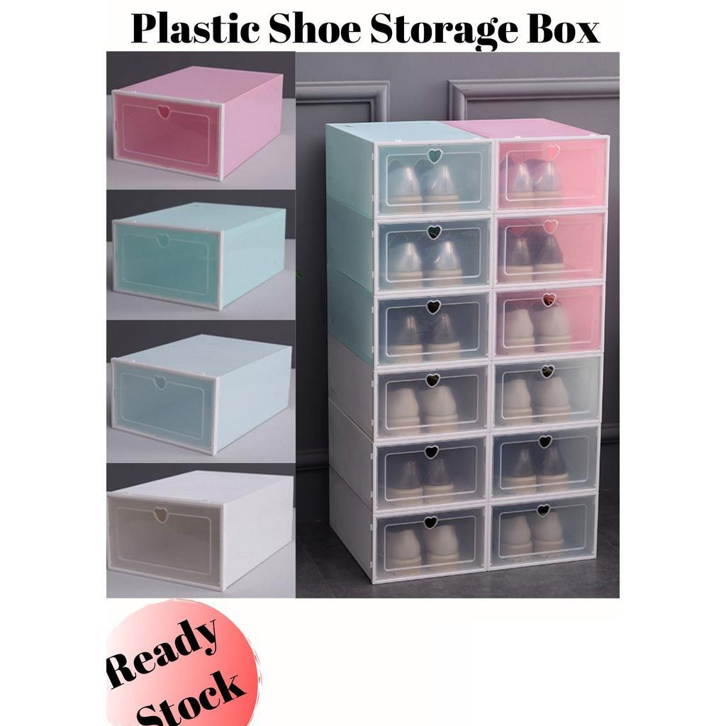 Caixa de armazenamento colorido Shoe Thicken PP plástico gaveta do armário à prova de poeira Caixa de armazenamento simples casa Sapatos de gaveta