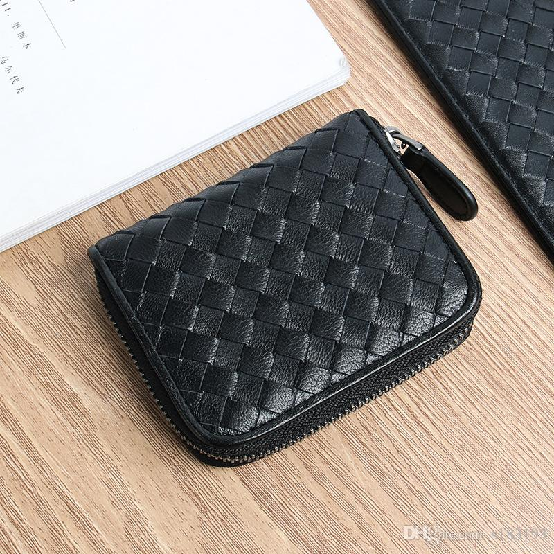 Women Genuine Leather Lambskin Leather Caviar Coin Purse Small Purse With Zipper Designer Card Holders zipper ladies wallets