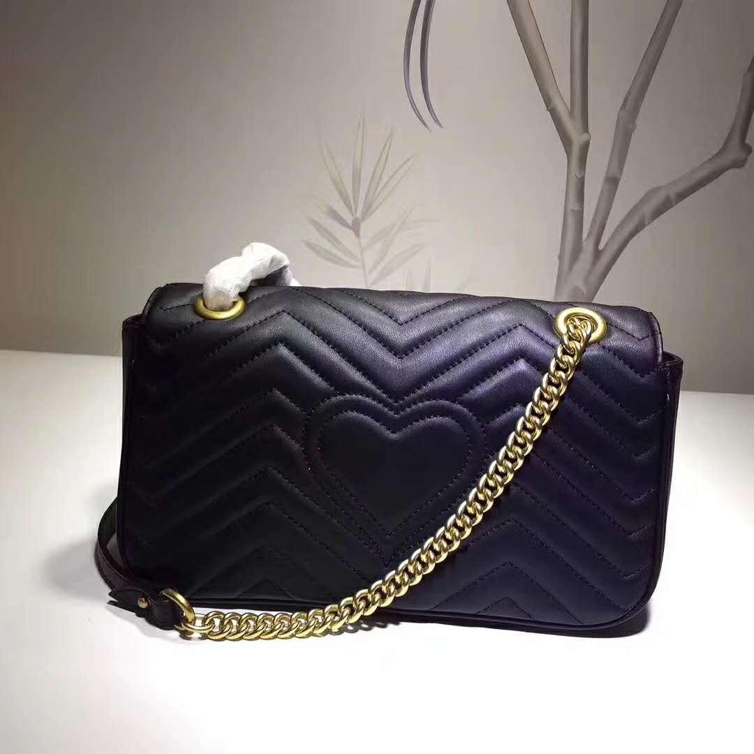 اسلوب جديد 26cm العلامة التجارية للسيدات حقيبة جلدية للسيدات حقيبة يد المرأة حقيبة العلامة التجارية عالية الجودة جلدية حقيقية حقيبة جلدية الكتف 443497