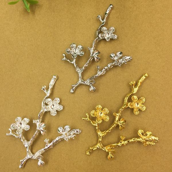 wholesale 20 PCS Fashion Metal Alloy Gold Silver Rhodium Tone Branch Flowers Connectors Charm For Jewelry Making